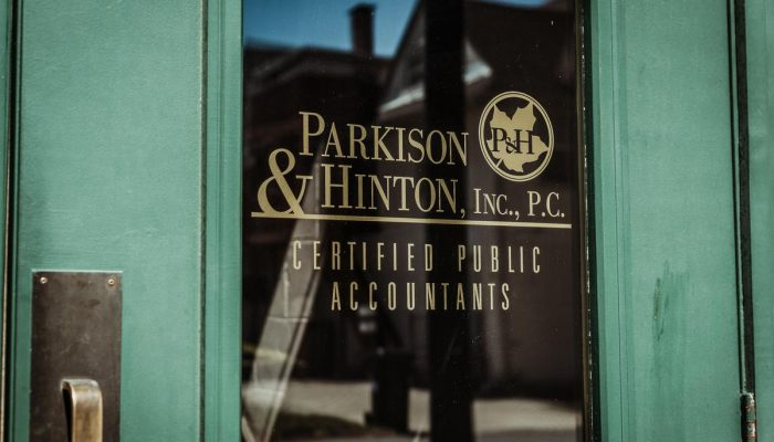 Entrance to Parkison & Hinton Office